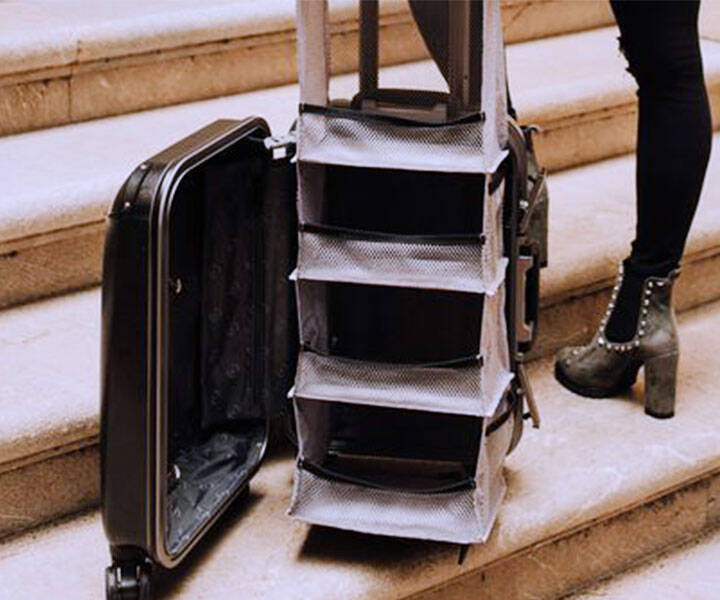 Luggage With Pop-Up Shelves - http://coolthings.us