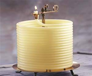 Coiled Wax Candle - http://coolthings.us