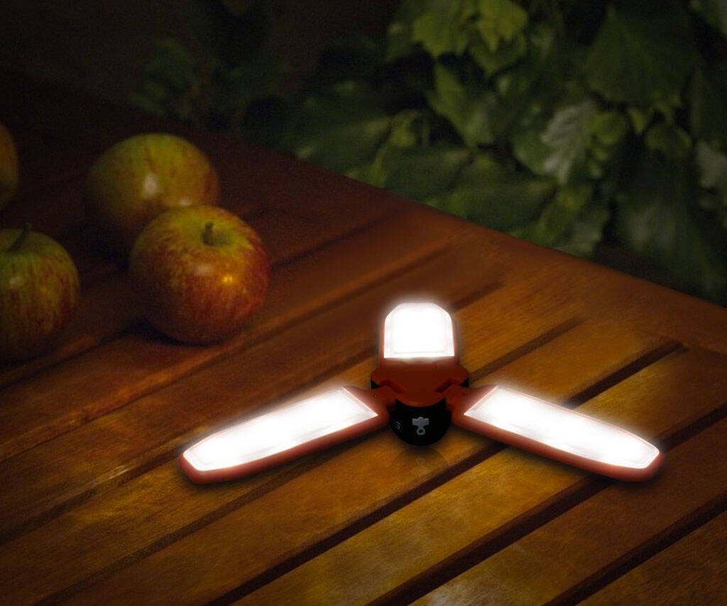 Solar Rechargeable Light Lantern Flashlight - http://coolthings.us
