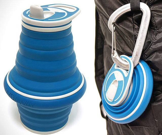 Collapsible Water Bottle - http://coolthings.us