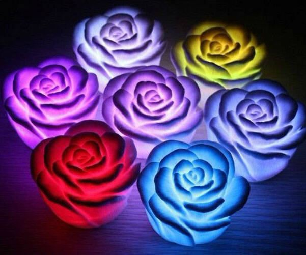 Color Changing Flower Lights - http://coolthings.us