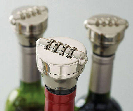 Combination Wine Bottle Lock - http://coolthings.us