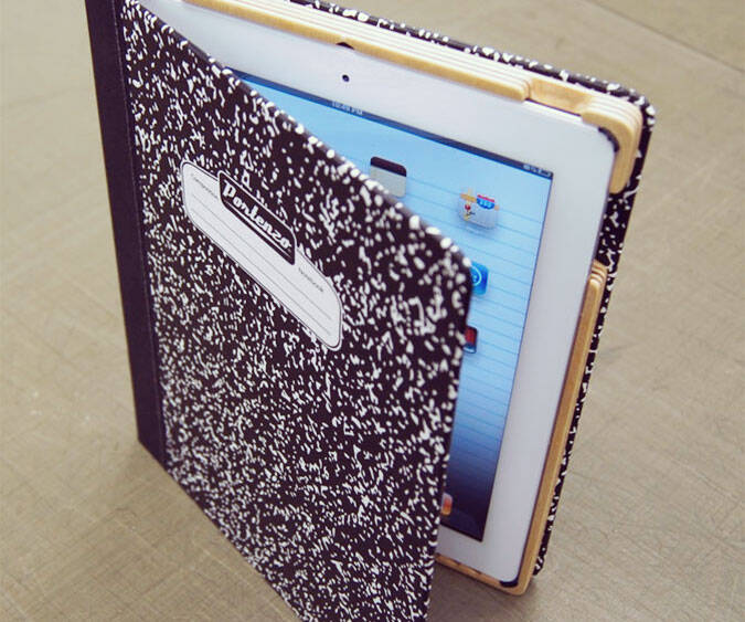 Composition Book iPad Cover - http://coolthings.us