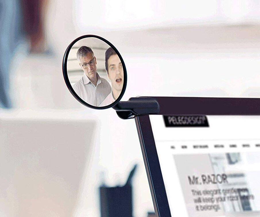 Computer Rear-View Mirror - http://coolthings.us