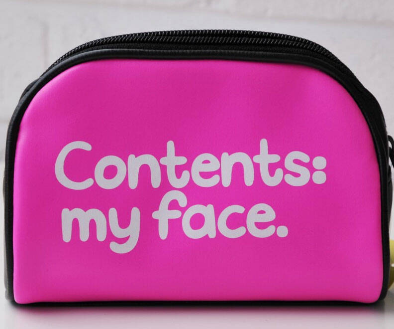 My Face Cosmetic Bag - http://coolthings.us