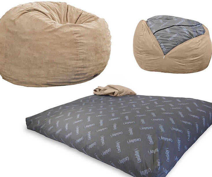 Convertible Bean Bag Chair - http://coolthings.us