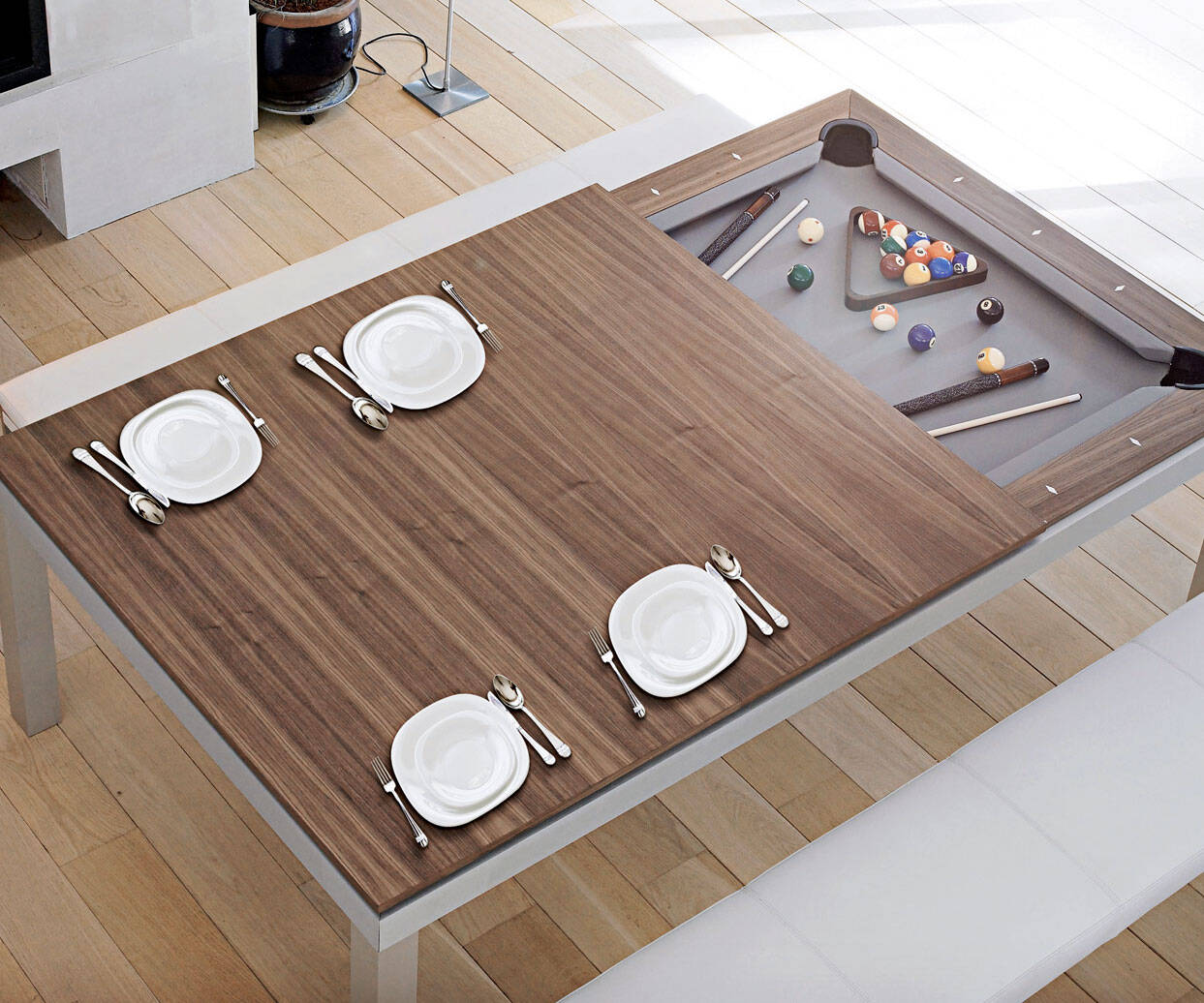 Convertible Billiards Dining Table - http://coolthings.us