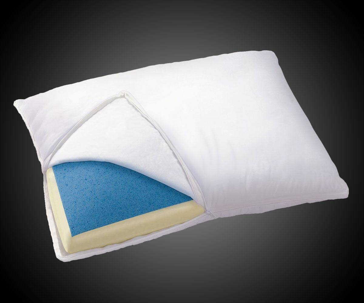 Cooling Gel Memory Foam Pillow - http://coolthings.us