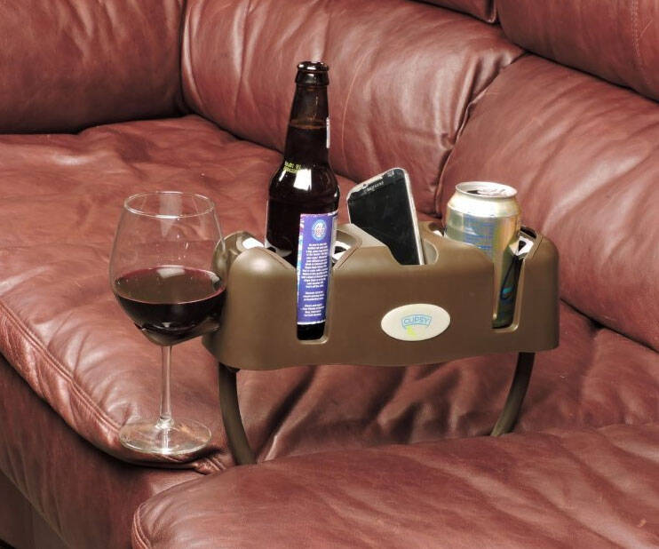 Couch Drink And Remote Holder - http://coolthings.us