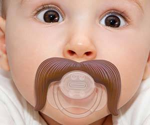 Cowboy Mustache Pacifier - http://coolthings.us