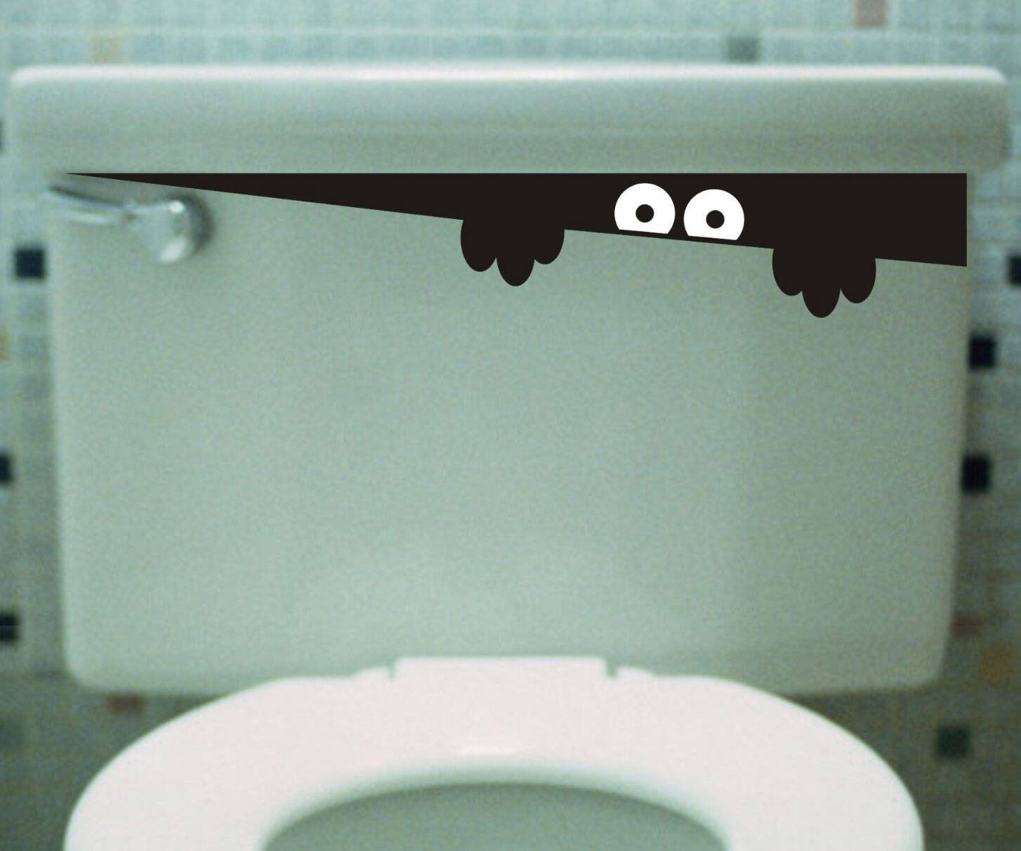 Peeking Toilet Monster Decal - http://coolthings.us