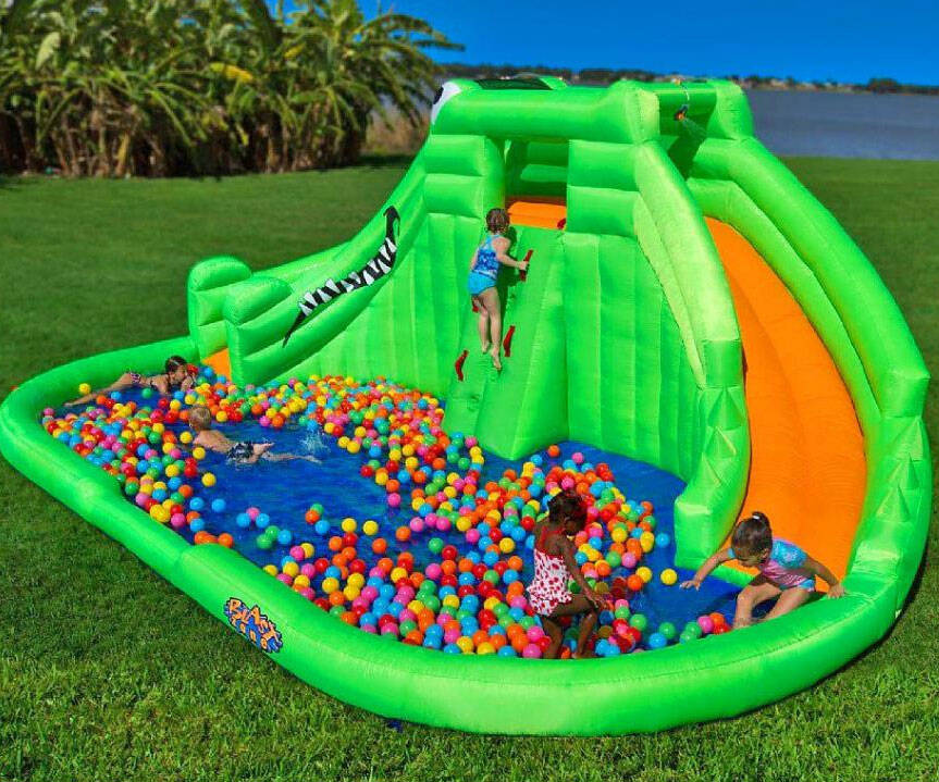 Crocodile Isle Inflatable Water Park - http://coolthings.us