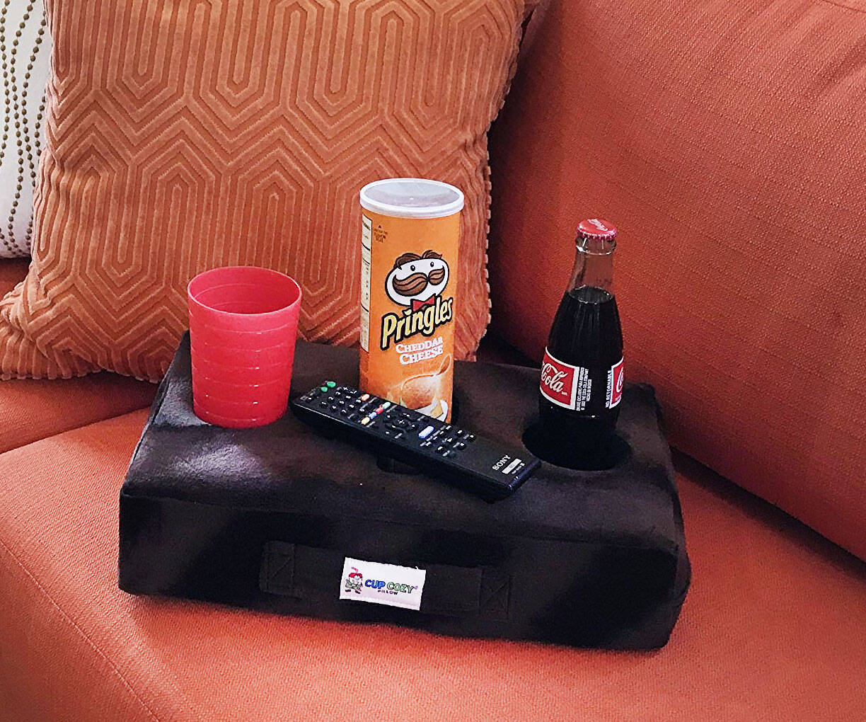The Cup Holder Couch Pillow - http://coolthings.us