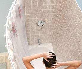 Curved Shower Rod - http://coolthings.us