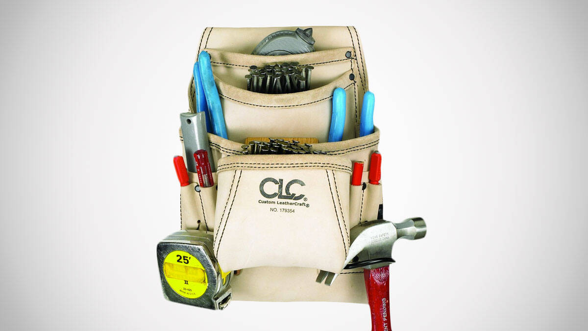 Custom Leathercraft Carpenter's Tool Bag - http://coolthings.us