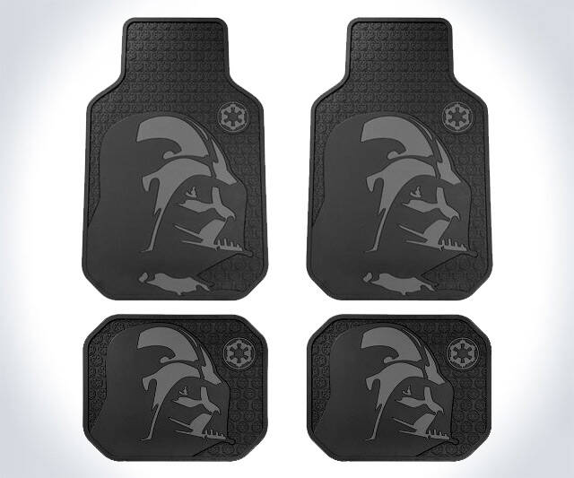 Darth Vader Rubber Floor Mats - http://coolthings.us