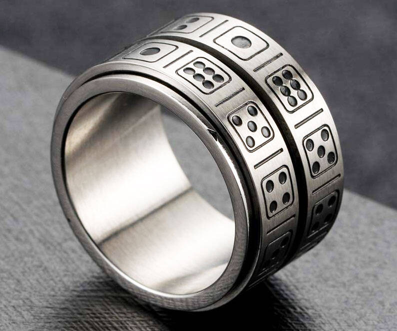 Dice Spinner Ring