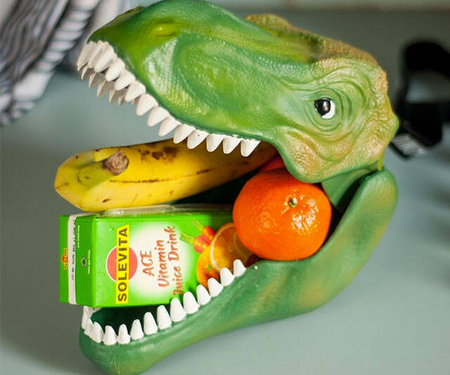 Dinosaur Head Lunchbox - http://coolthings.us