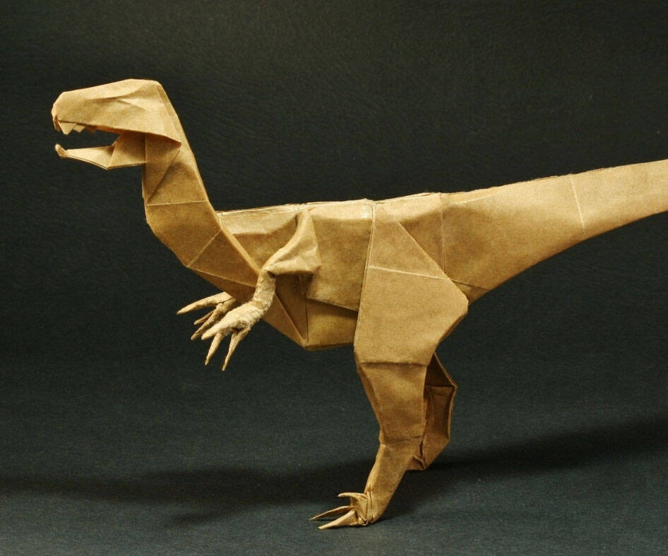 Dinosaur Origami Book - http://coolthings.us