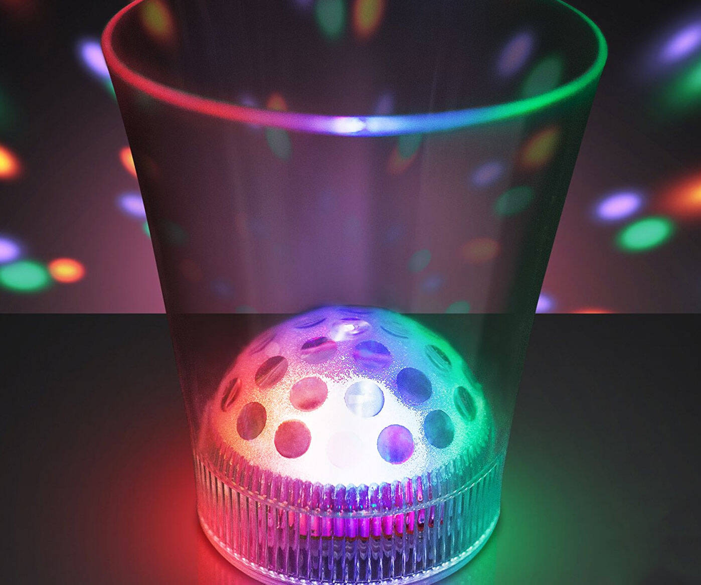 Disco Ball Light Projecting Cup - http://coolthings.us