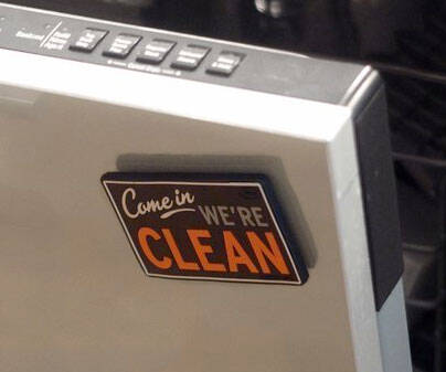 Dishwasher Clean/Dirty Flip Sign - http://coolthings.us