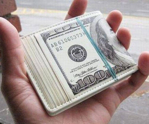 Dollar Stacks Wallet - http://coolthings.us