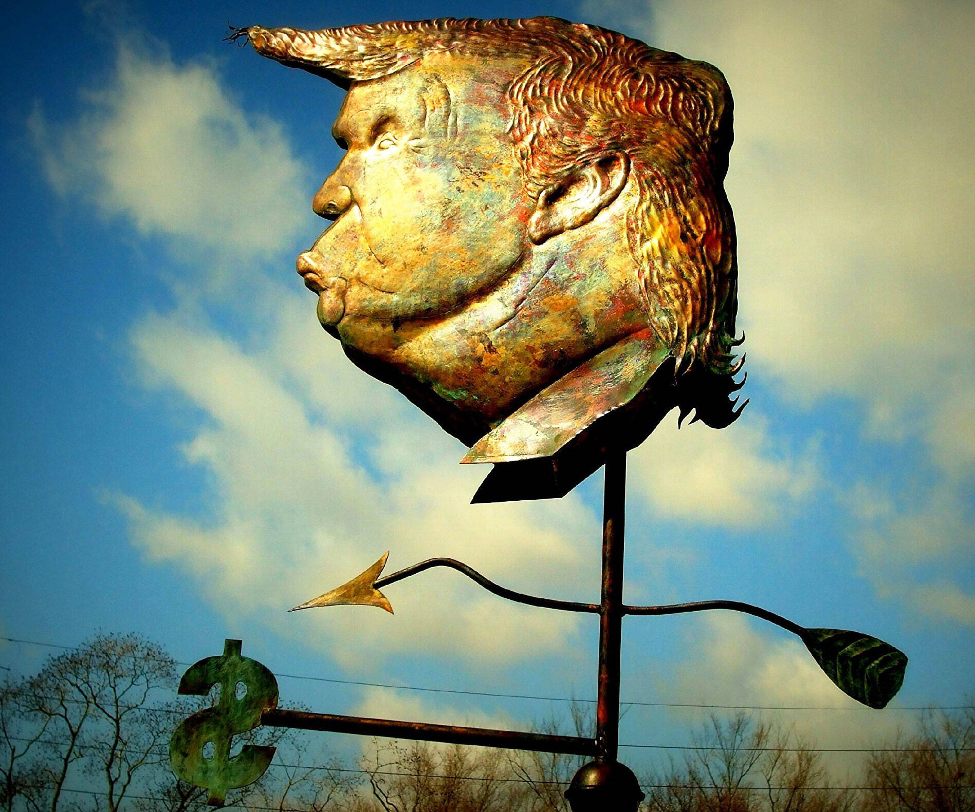Donald Trump Weathervane - http://coolthings.us