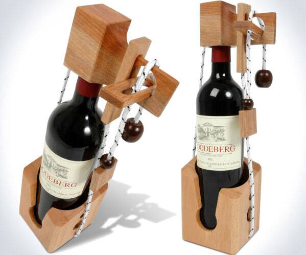 Don't Break the Bottle Wine Puzzle - http://coolthings.us