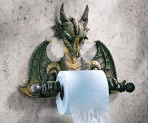 Dragon Style Toilet Paper Holder - http://coolthings.us