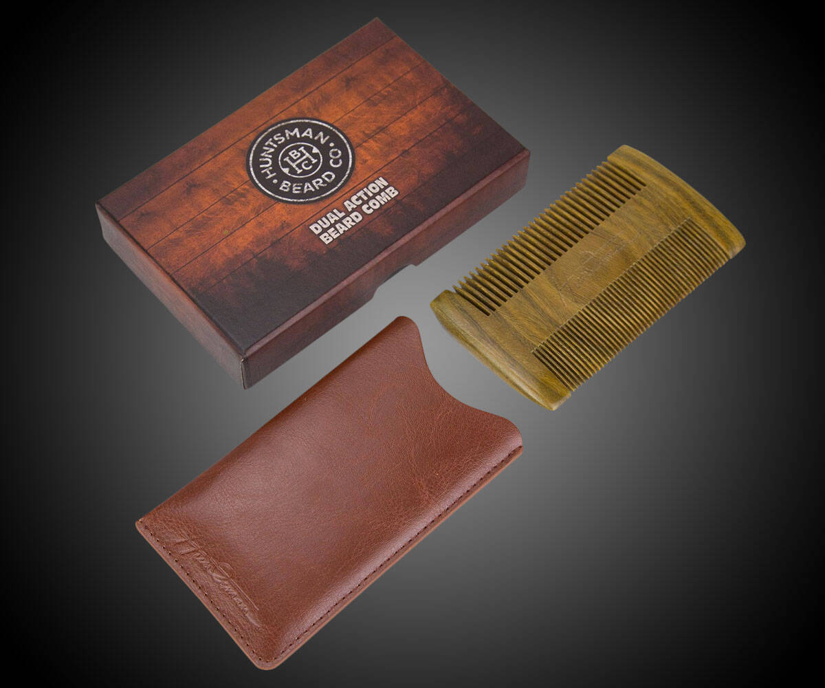 Dual Action Beard Comb & Protective Sleeve - http://coolthings.us