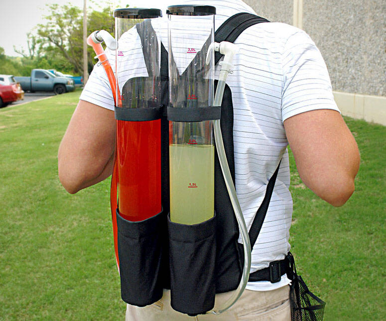 Dual Drink Backpack - http://coolthings.us