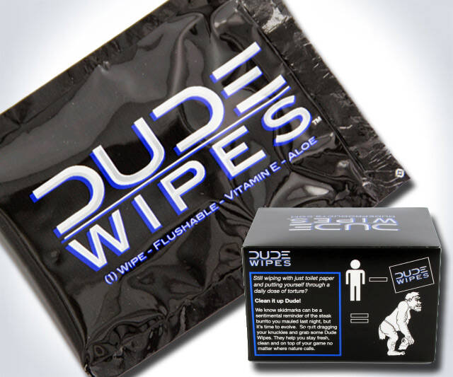 Dude Wipes - http://coolthings.us