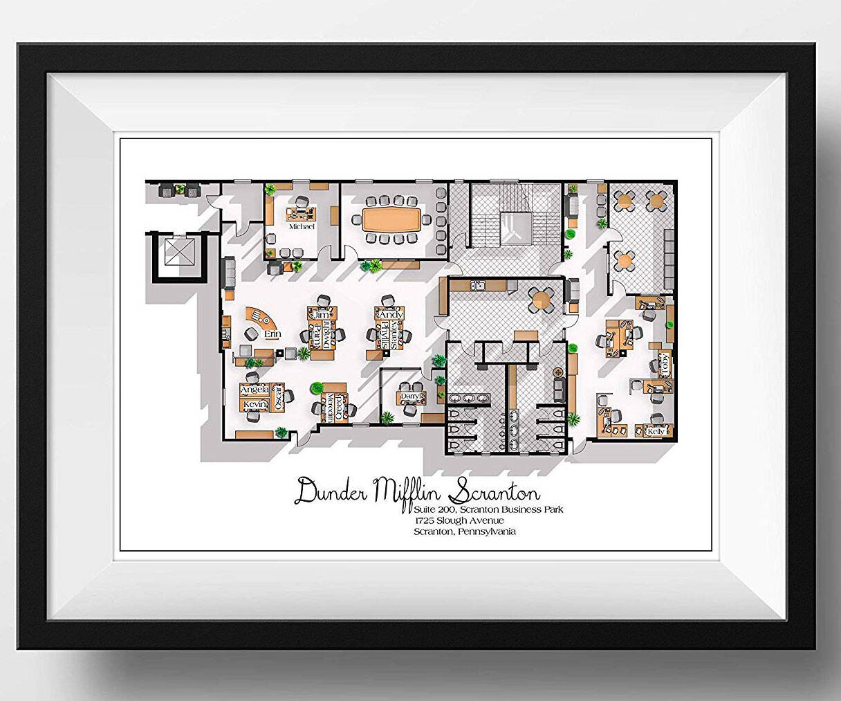 Dunder Mifflin Office Floor Plan Print - coolthings.us
