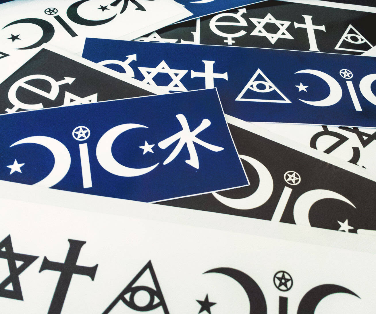 Eat A Dick Coexist Parody Bumper Sticker - http://coolthings.us