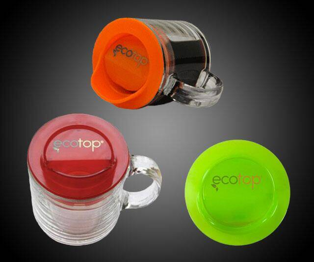 Ecotop Mug To-Go Topper - http://coolthings.us