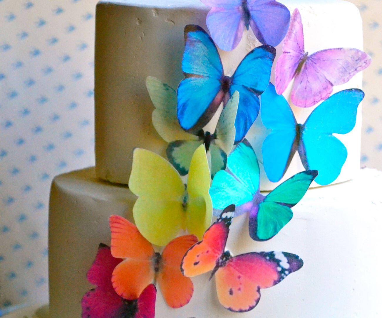 Edible Butterfly Cake Toppers - http://coolthings.us