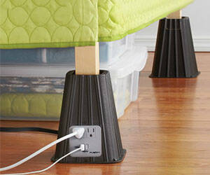 Electrical Outlet Bed Risers - http://coolthings.us