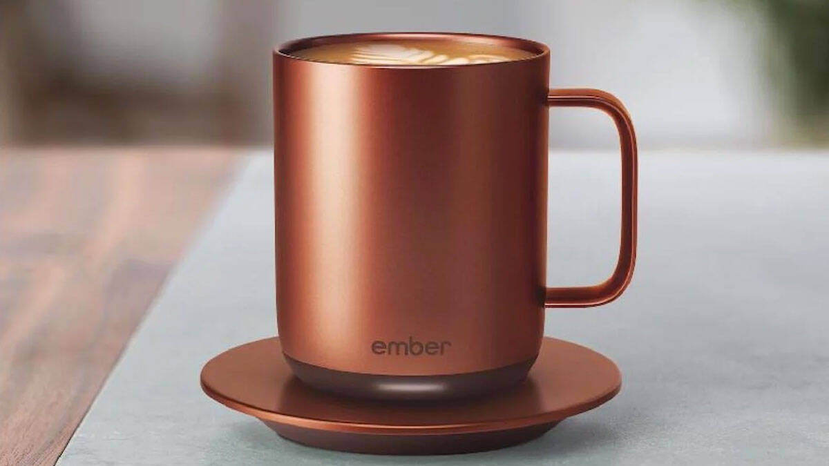 Copper Temperature Control Mug - http://coolthings.us