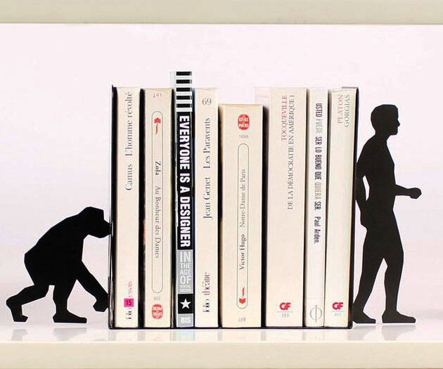 Evolution Bookends - http://coolthings.us