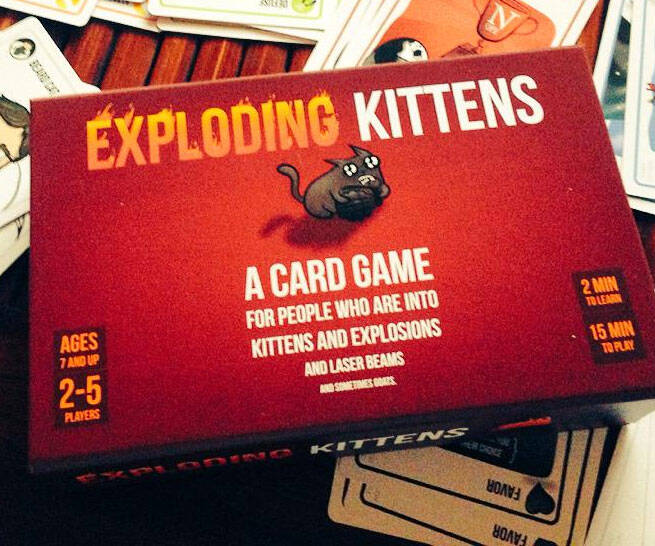 Exploding Kittens Card Game - http://coolthings.us