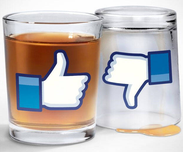 Facebook Like Shot Glasses - coolthings.us