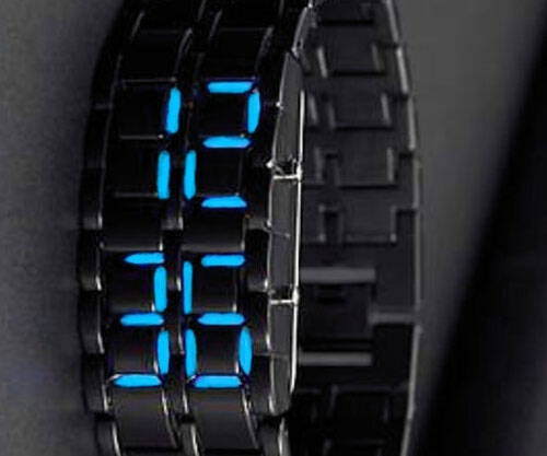 Faceless LED Watch - http://coolthings.us