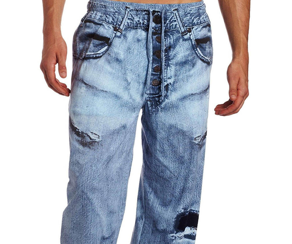 Fake Jeans Pajama Pants - http://coolthings.us