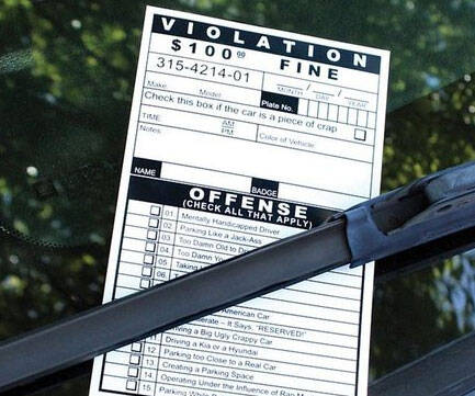 Fake Parking Tickets - http://coolthings.us