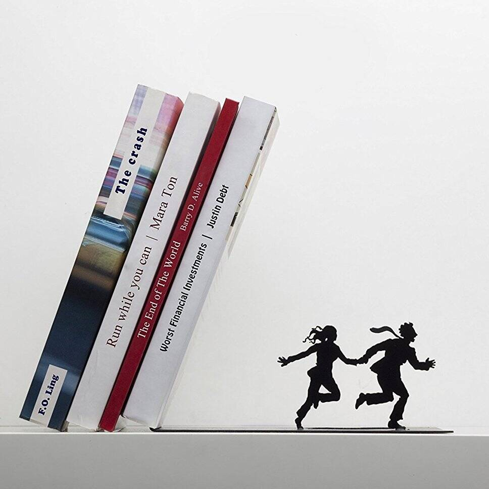 Falling Books Bookend - http://coolthings.us