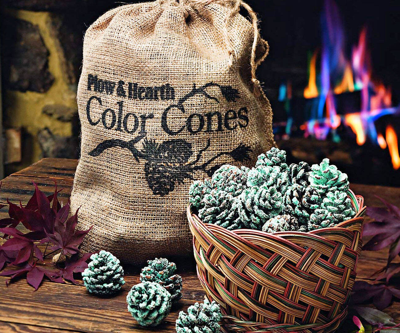 Flame Color Changing Pine Cones - coolthings.us