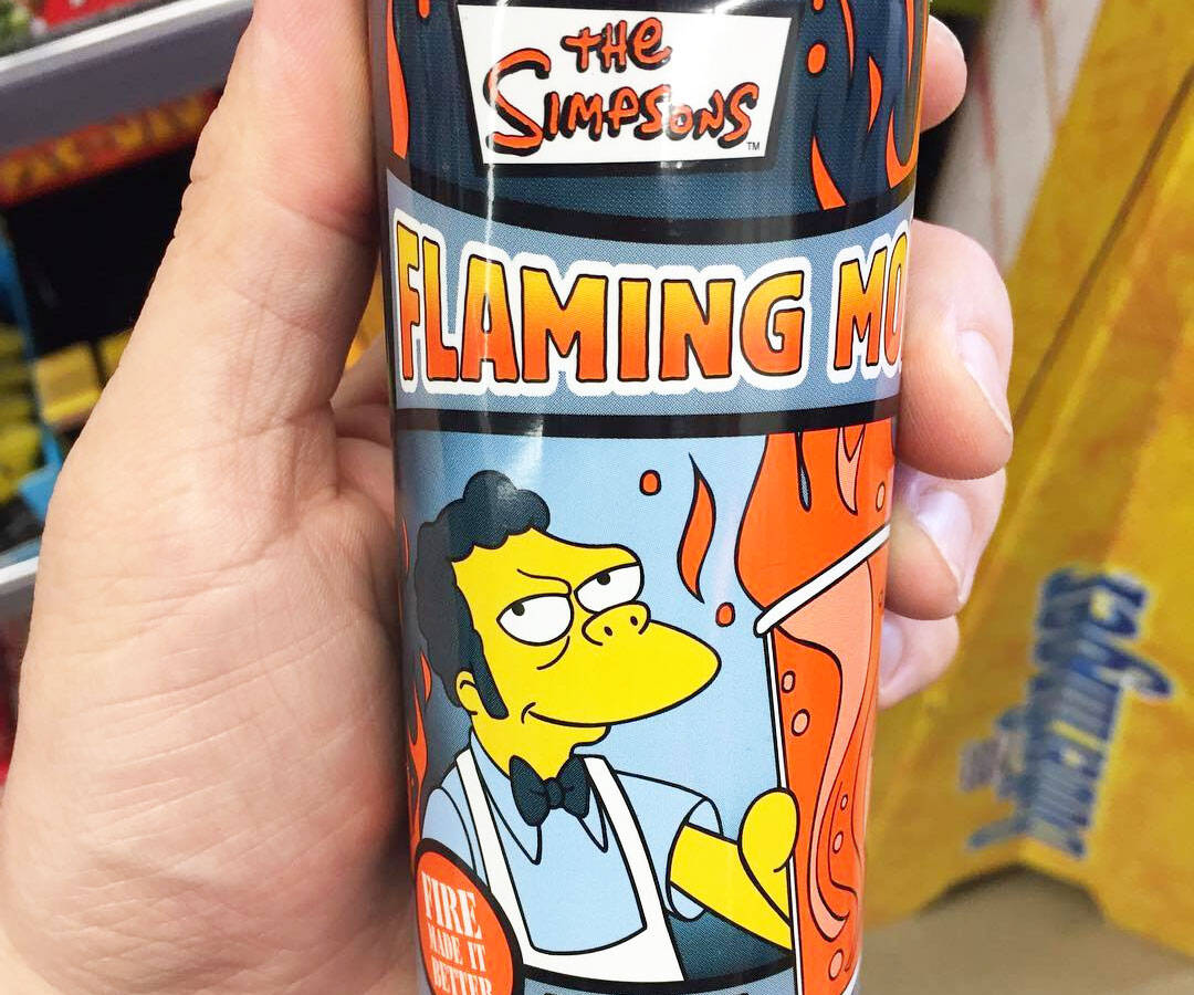 The Simpsons Flaming Moe Energy Drink - http://coolthings.us