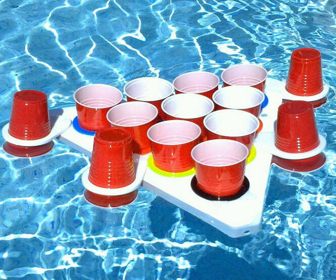 Floating Beer Pong Set - http://coolthings.us