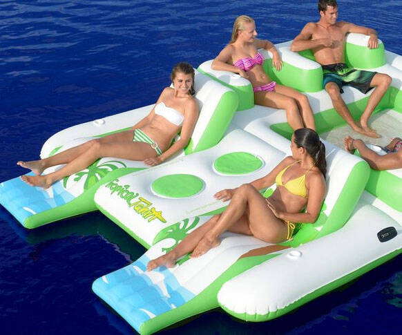 Inflatable Floating Island - coolthings.us
