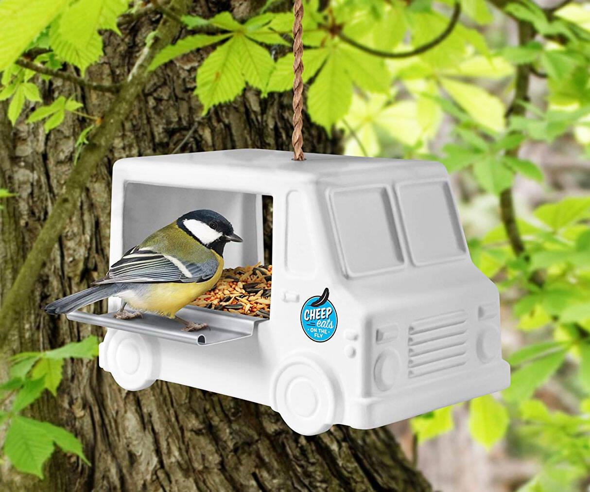 Food Truck Bird Feeder - http://coolthings.us